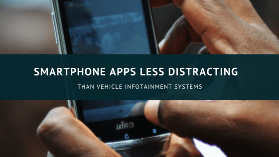 Are Smartphone Apps Less Distracting than Vehicle Infotainment Systems?